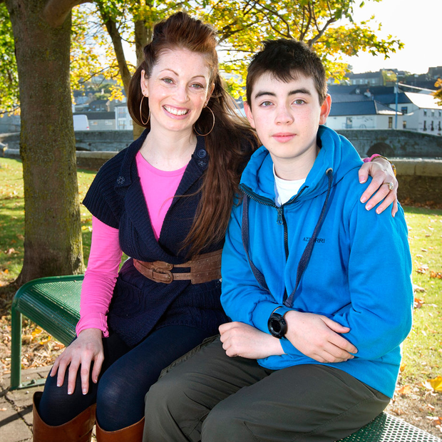 Invaluable: Maria Scanlon with son Christofer, who thrived while being cared for by his grandparents Photo: Tony Gavin