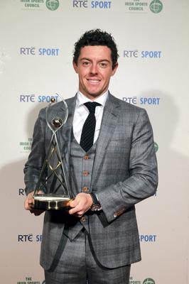 Rory McIlroy at the RTE Sports Awards 2014 in association with the Irish SportsCouncil, at RTE studios, Dublin. Picture:Arthur Carron