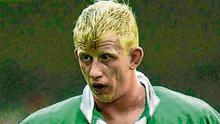 Current Leinster supremo Leo Cullen in his playing days with Ireland. Photo: Brendan Moran / Sportsfile