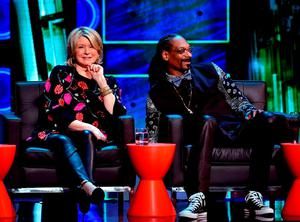 TV personality Martha Stewart (L) and rapper Snoop Dogg onstage at The Comedy Central Roast of Justin Bieber at Sony Pictures Studios