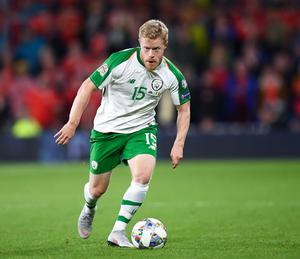 Daryl Horgan, who played under Stephen Kenny at Dundalk, in action for Ireland during the 2018 Nations League match against Wales at the Cardiff City Stadium. Photo: Sportsfile