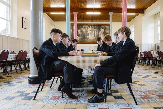 Class act: Pupils at the recovering Cistercian College in Roscrea. Photo: Don Moloney