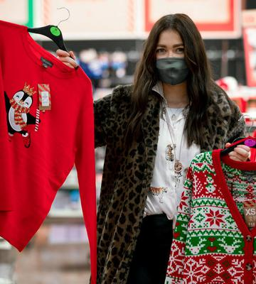 Reporter Ciara O'Loughlin browses at 4am in the Penneys store in the Blanchardstown centre