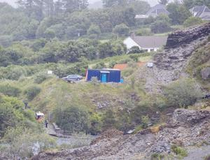 Tragic scene: The quarry in Portroe, Co Tipperary where two men were found drowned. Photograph Press 22