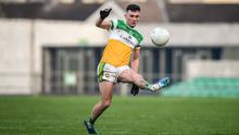 Offaly were on the ropes but a point from Ruairi McNamee settled the visitors nerves before the excellent McNamee scored once more to seal the victory. Photo: David Fitzgerald/Sportsfile