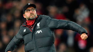 Liverpool manager Jurgen Klopp celebrates yesterday's FA Cup victory over Everton at Anfield. Photo: Getty Images