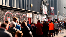 Support structures: Bohemians supporters queue for tickets for last year's FAI Cup semi-final. Most League of Ireland clubs are heavily reliant on crowds as a revenue stream. Photo: Stephen McCarthy/Sportsfile