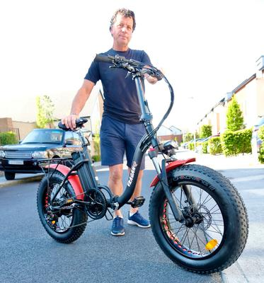 In the saddle: Ian Switzer of DME Bikes