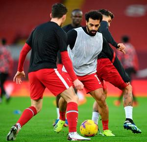 On the move: Mo Salah has hinted his future may be away from Anfield but a switch to La Liga seems unlikely given Barca and Real's financial plight. Photo: Getty Images