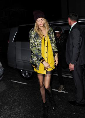 LONDON, ENGLAND - SEPTEMBER 10:  Cara Delevingne to have dinner with Rihanna at Nozomi restaurant in Knightsbridge. on September 10, 2013 in London, England.  (Photo by Keith Hewitt/FilmMagic)