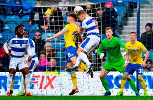 Queens Park Rangers' Jake Bidwell scores the 2nd goal. Photo: Justin Setterfield/Getty Images