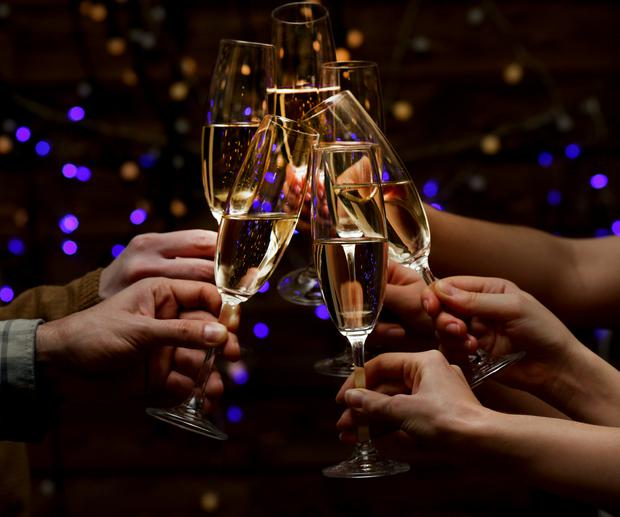 Bubbling over: Champagne and sparkling wines are a must for toasting a new decade