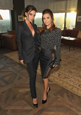 "Victoria Beckham and Eva Longoria  attend Instyle's ""Dinner With A Desiger"" for Brian Atwood at Soho House on June 2, 2010 in West Hollywood, California."
