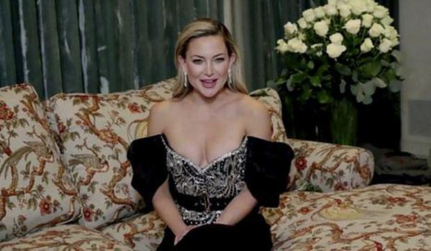 Kate Hudson in this handout screen grab from the 78th Annual Golden Globe Awards  NBC Handout via REUTERS