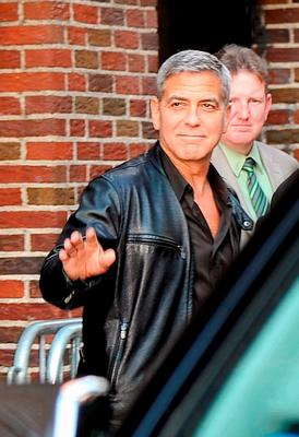 """George Clooney visits """"Late Show With David Letterman"""" at Ed Sullivan Theater on May 14, 2015 in New York City.  (Photo by Chance Yeh/Getty Images)"""