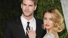 Miley and Liam at the 2013 Vanity Fair Oscars party