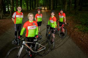Members of Ballisodare Bay Cycling Club with their new kit. Photo: James Connolly