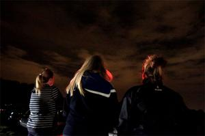 Girls from Dublin pictured in Phoenix Park trying to get a look at the meteor shower in the sky overhead