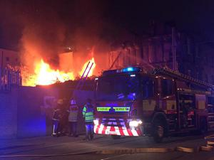 The scene at Benburb Street close to Smithfield this evening  Pic: Rob Kennedy-Cochrane/Twitter