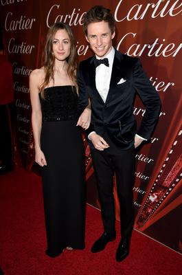 Actor Eddie Redmayne (R) and Hannah Bagshawe attend the 26th Annual Palm Springs International Film Festival Awards Gala at Palm Springs Convention Center