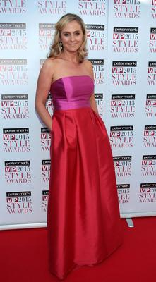 Debbie O Donnell on the Red Carpet at The Peter Mark VIP Style Awards 2015 at The Marker Hotel,Dublin. Pictures Brian McEvoy