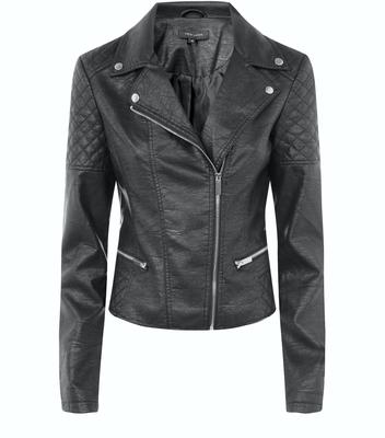 Luxe faux leather biker, €49.99, New Look