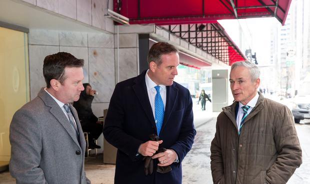 Pictured at Holt  Renfrew's flagship Bloor Street store in Toronto, to  announce the roll out of CX Index software across Holt Renfrew's nine department stores in Canada were (from left): Cameron Lilly, Senior VP Canada, Technology & Financial Services, Enterprise Ireland; David Heneghan, co-founder and CEO, CX Index, and Richard Bruton TD, Minister for Communications, Climate Action and Environment