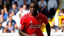 Mario Balotelli during his Liverpool debut against Spurs at White Hart Lane