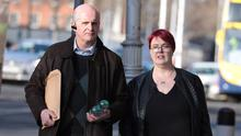Legal battle: Cornelius and Suzanne Dennehy from Kerry at the Four Courts. Pic: Collins Courts