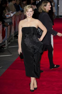 """Cecelia Ahern attends the World Premiere of """"Love, Rosie"""" at Odeon West End on October 6, 2014 in London, England.  (Photo by Tristan Fewings/Getty Images)"""