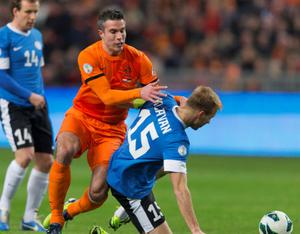 Robin van Persie in action for Holland. Picture: Reuters