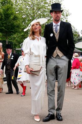 Abbey Clancy (left) and Peter Crouch during day three of Royal Ascot at Ascot Racecourse