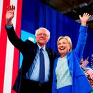 Bernie Sanders and Hilary Clinton Picture: PA
