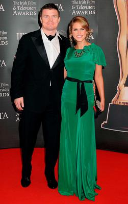 2010: IFTA darling Amy Huberman and Brian O'Driscoll made a rare joint red carpet appearance and Amy's green Belle & Bunty dress went down as one of her best looks ever.
