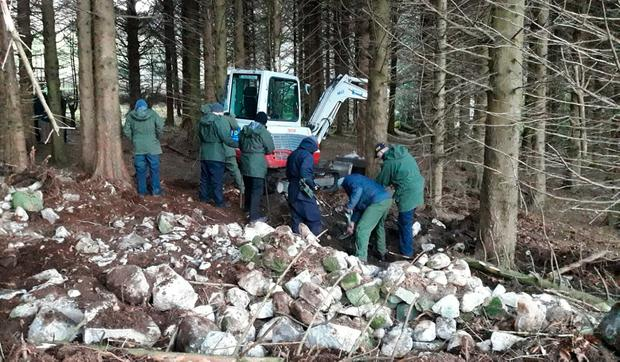 Arms: Gardaí found an arms dump in their ongoing probe of dissident Republican groups in Co Louth. Photo: PA