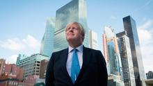 Bad day: UK Prime Minister Boris Johnson arrives at the UN in New York for the 74th session of the UN General Assembly. Photo: Stefan Rousseau/PA