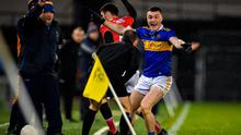 Tipperary's Tadhg Fitzgerald looks to be awarded a sideline kick during the Allianz Football League Division 3 Round 4 match between Tipperary and Cork at Semple Stadium in Thurles, Tipperary. Photo: Piaras Ó Mídheach/Sportsfile