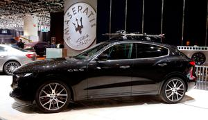 A Maserati Levante SUV car is seen at the exhibition stand of Maserati ahead of the 87th International Motor Show at Palexpo in Geneva, Switzerland March 6, 2017. REUTERS/Arnd Wiegmann