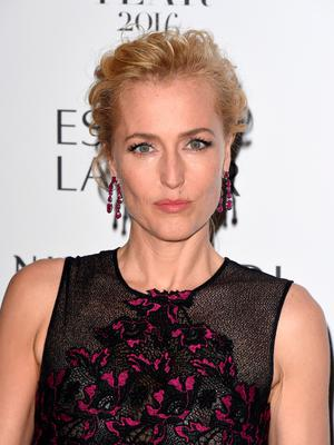 Gillian Anderson attends Harper's Bazaar Women Of The Year Awards at Claridge's Hotel on October 31, 2016 in London, England.  (Photo by Stuart C. Wilson/Getty Images)