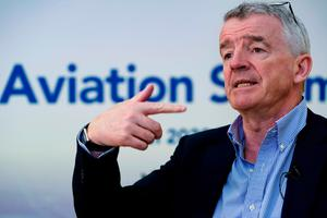Chief executive Michael O'Leary, whose pay was cut by 50% for April and May, has agreed to extend the reduction for the remainder of the financial year to March 2021.  Photo: AFP via Getty Images