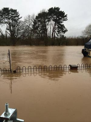 Handout photo issued by local resident Christian Gandar of flooding near the River Severn in Worcester. Christian Gandar /PA Wire