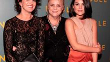 CRUSADER: Christina Noble (centre) with actresses Deirdre O'Kane and Sarah Greene, who play her in the film, at The Irish Gala Screening of 'Noble' at the Savoy Cinema on O'Connell Street, Dublin. Photo: Brian McEvoy