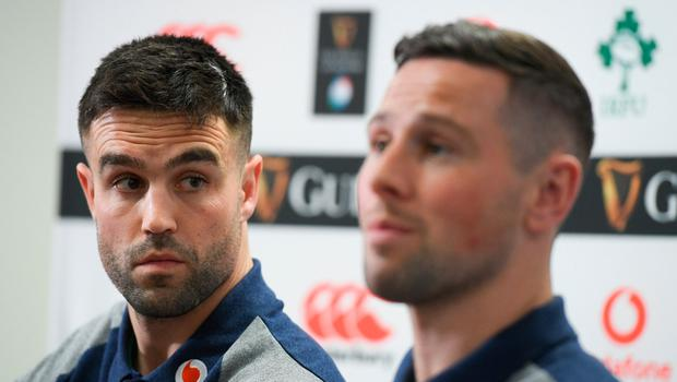 Conor Murray and John Cooney are in a selection battle for the nine jersey.. Photo by Ramsey Cardy/Sportsfile