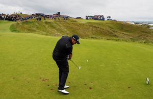 Golf - The 148th Open Championship - Royal Portrush Golf Club, Portrush, Northern Ireland - July 21, 2019  Republic of Ireland's Shane Lowry on the 16th hole during the final round  REUTERS/Paul Childs