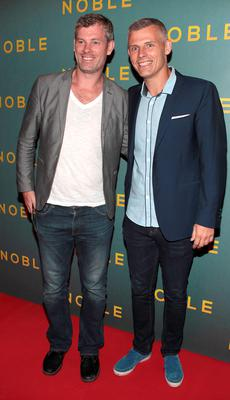 Aidan Bishop and Des Bishop at The Irish Gala Screening of NOBLE  at the Savoy Cinema on O'Connell Street, Dublin Pictures: Brian McEvoy