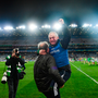 25 January 2020; Oughterard manager Tommy Finnerty celebrates following the AIB GAA Football All-Ireland Intermediate Club Championship Final match between Magheracloone and Oughterard at Croke Park in Dublin.Photo by Ramsey Cardy/Sportsfile