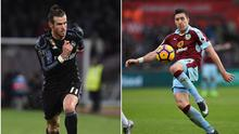 Gareth Bale (left) and Stephen Ward (right).