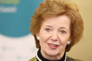 Mary Robinson during the Hunger, Nutrition, Climate ,Justice Conference which will explore the links between climate change, hunger and poor nutrition and their impact on the world's most vulnerable communities