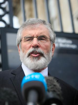 Gerry Adams: He has consistently denied claims he was in the IRA. Picture: Collins
