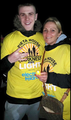 Luke O'Reilly with his mother Janet O'Brien